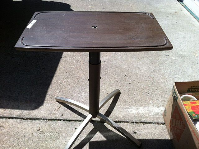 Vintage TV Table With Swivel Top, To Hold The Vintage Television In The  Office/guest Bedroom.