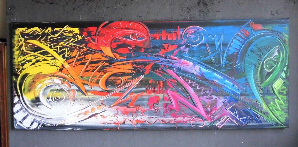 Details zu Bild abstrakt Acryl Bilder modern Gemälde XL Kunst ...