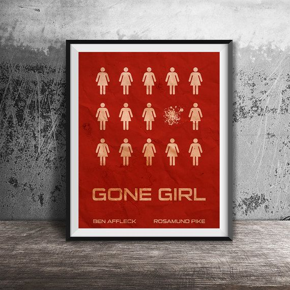Movie posterMinimalistic movie posterGone girl by OandBstudios
