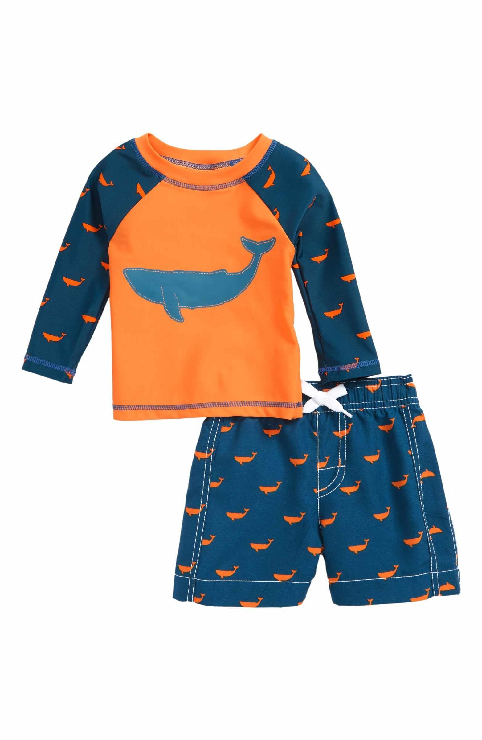 Hatley Baby Boys Rash Guard Swimsuit Sets Swim Shirt