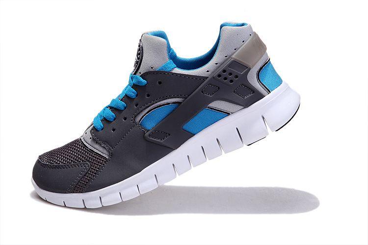 official photos a74cf 4ad24 Fake Nike Huarache Free 2012 Runs Stealth Grey White Blue 49.63