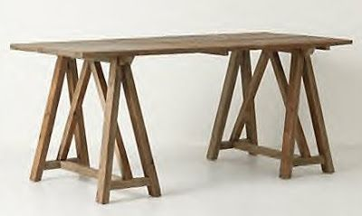 Sawhorse table inspiration furniture pinterest mobilier