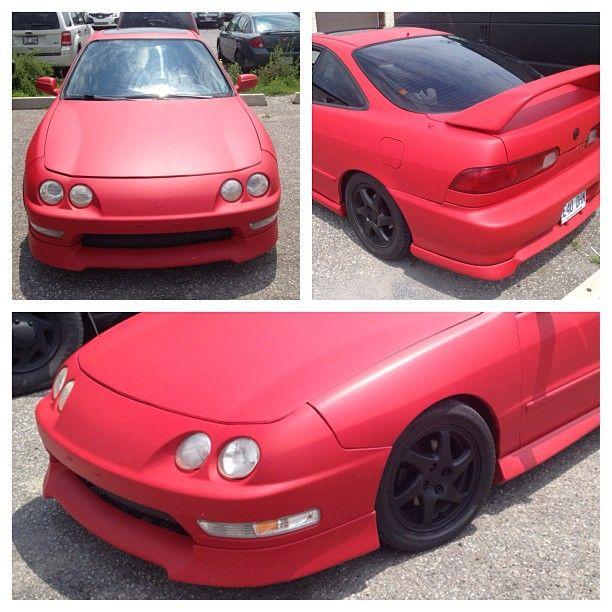 Matte Red Dip Job On An Acura Integra! #360customs