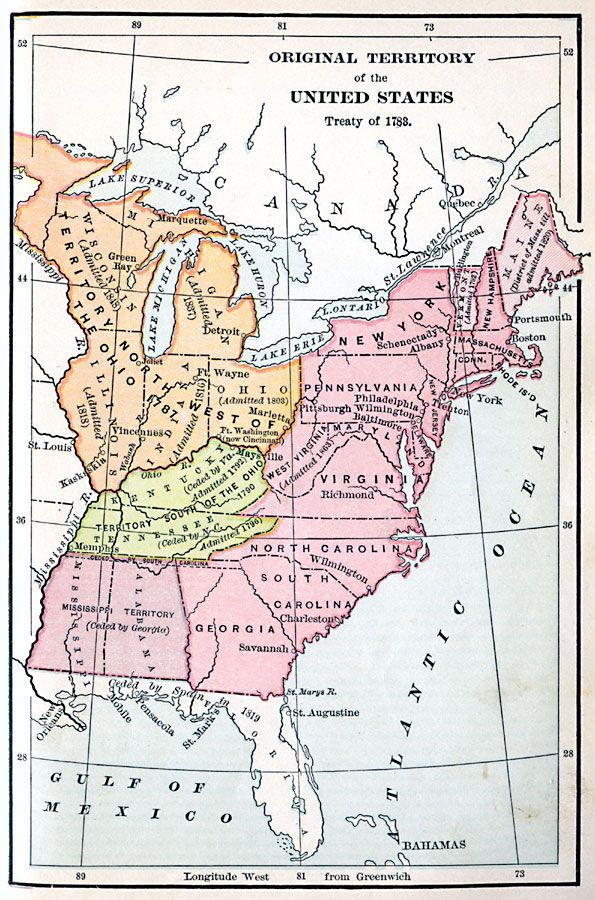 Territory Of US Ambleside Year Pinterest United - Map of us in 1790