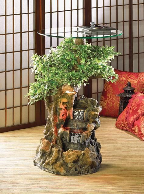 Bonsai Water Fountain Table Indoor Tabletop Water
