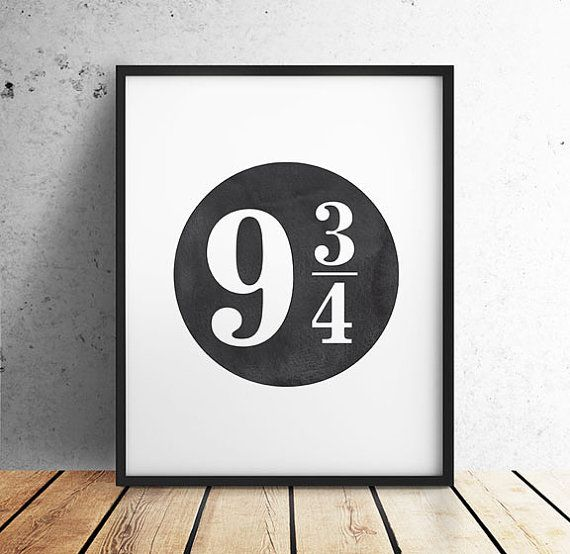 Harry Potter Harry Potter PRINTABLE Wall Art 9 3/4 by off2market | A ...