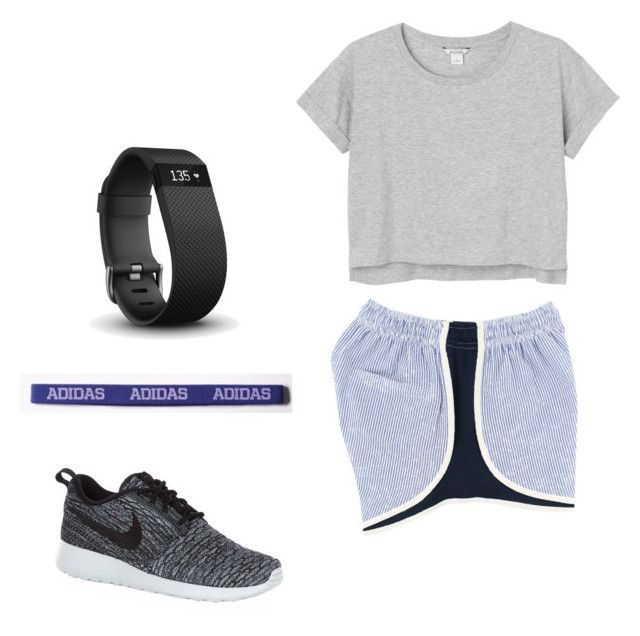 """Untitled #7"" by kory-clark on Polyvore featuring Monki, NIKE, adidas and Fitbit"