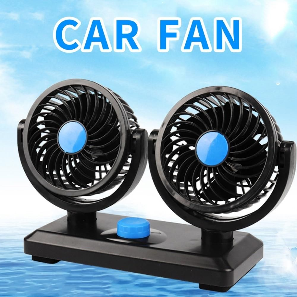 12V Mini Electric Car Fan Low Noise Summer Car Air