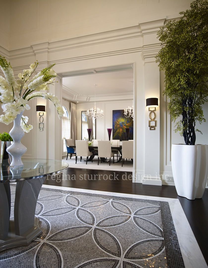 Contemporary hallway furniture  Burlington Interior Design Project Contemporary Classicism  Regina