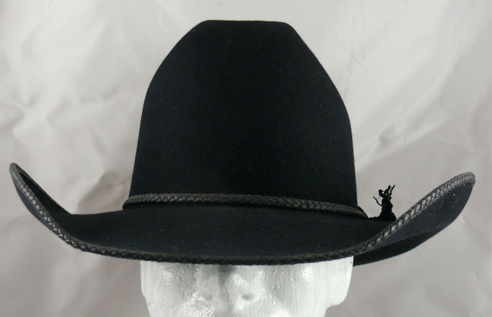 1f816cec442e1 Rand s Custom Cowboy Hats Black Cattleman Leather Lace