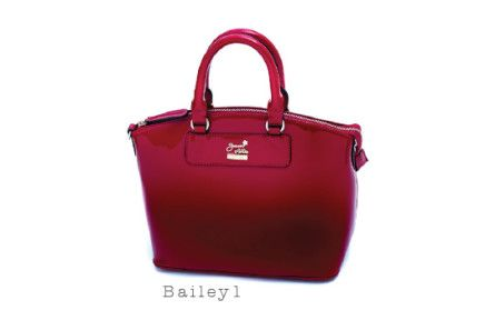 Bailey 1 handbag from Jeanne Lottie in red, $185