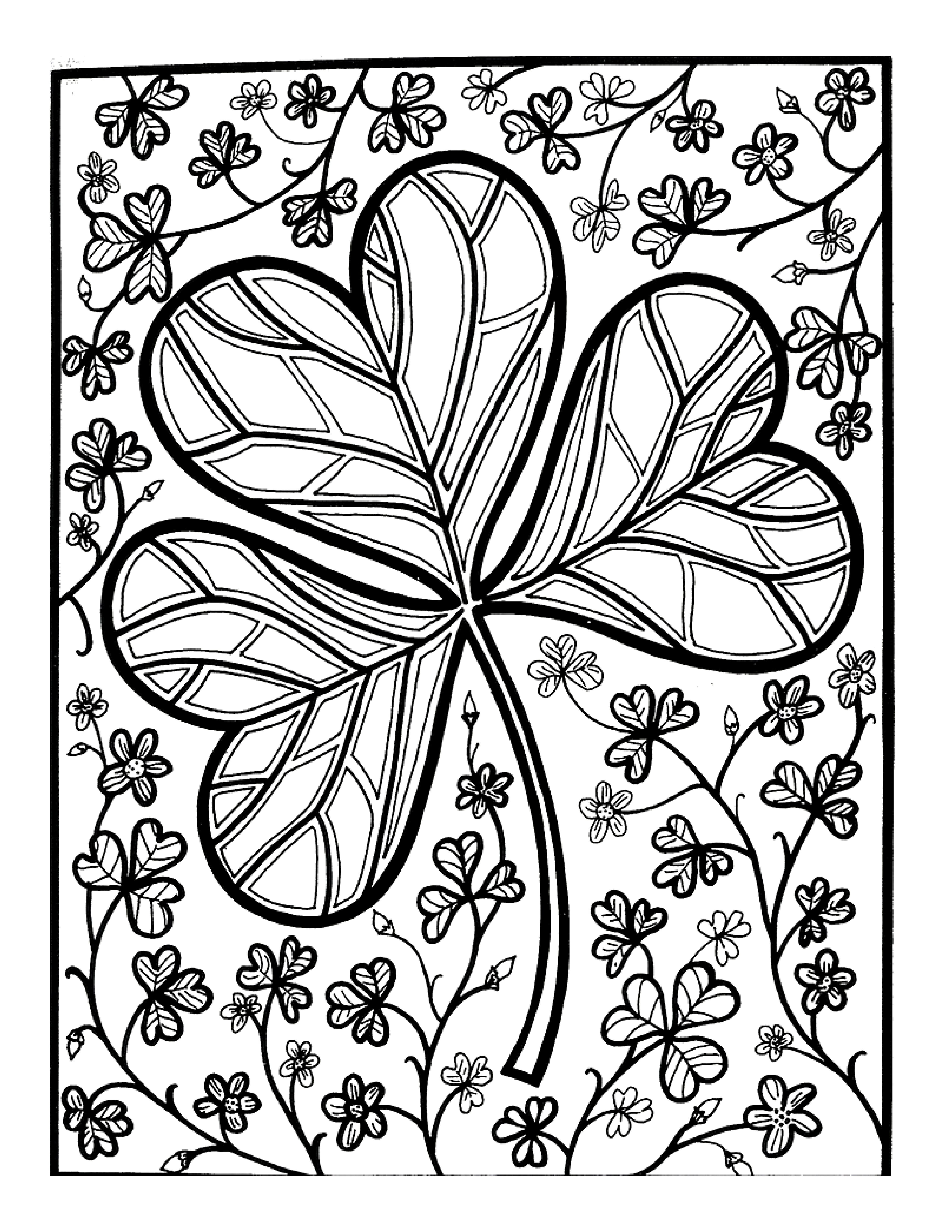 Pin By William Mike Groeneveld On Let S Doodle Coloring Pages Coloring Pages Adult Coloring Pages St Patricks Day Crafts For Kids