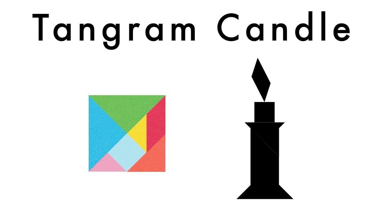 make this tangram candle  download a free tangram puzzle