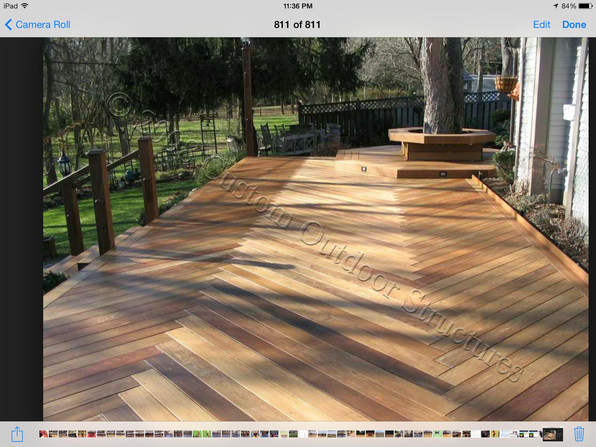 Herringbone Decking Wood Deck Designs Deck Patterns Diy Deck