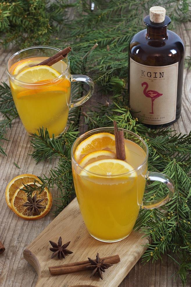 Glüh Gin mit Apfel und Orangen - Rezept - Sweets & Lifestyle