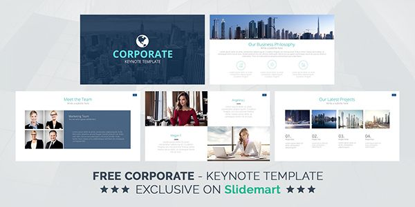 free corporate keynote presentation template deck on behance, Powerpoint templates
