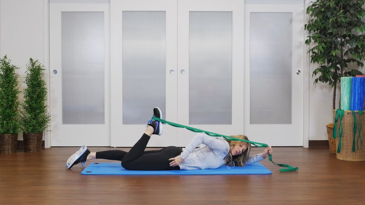 Leg and lower body stretches for athletes and runners featuring the OPTP Stretch Out® Strap.