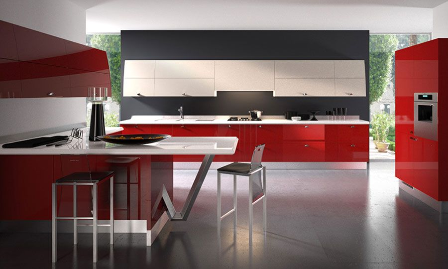 30 Modelli di Cucine Rosse dal Design Moderno | Cucine | Cucina ...