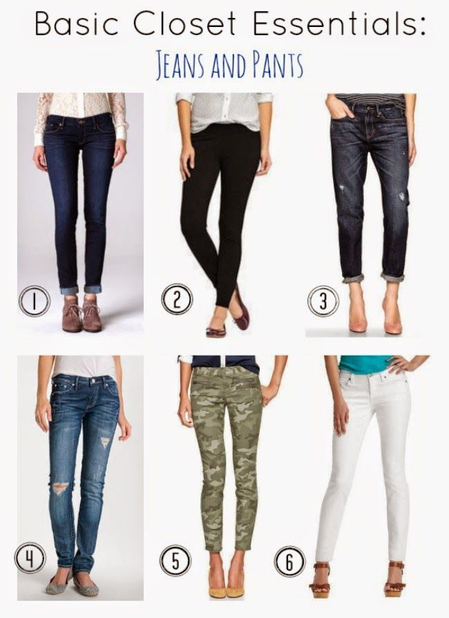 ONE little MOMMA: Build Your Basic Closet - Essential Jeans and Pants