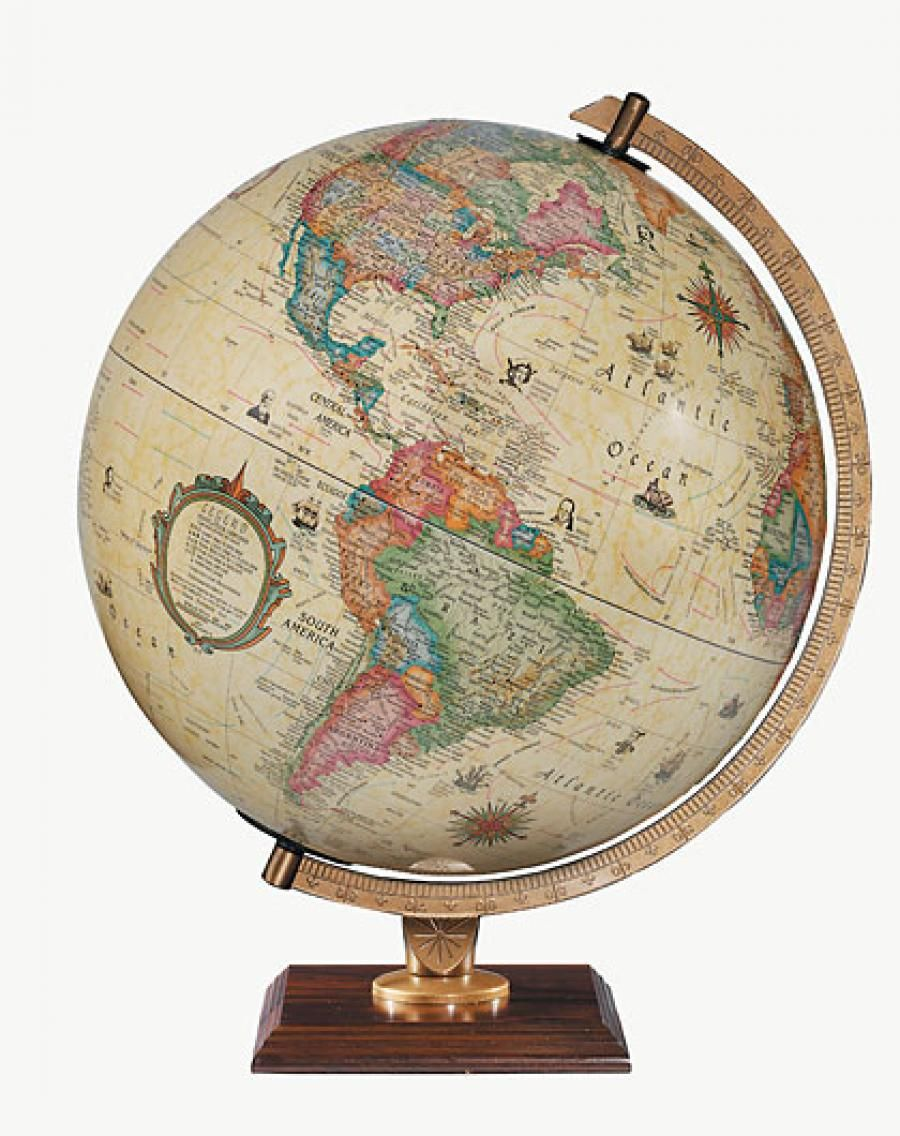 Found it at Clockway.com - 12in Replogle Illuminated Antique Desk Globe -  CRP1326 - Found It At Clockway.com - 12in Replogle Illuminated Antique Desk