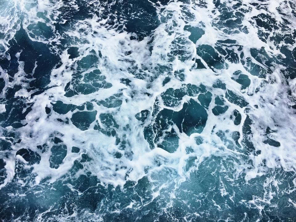 Sea Ocean Blue Water Waves Nature Macbook Air Wallpaper Macbook Desktop Desktop Wallpaper Macbook