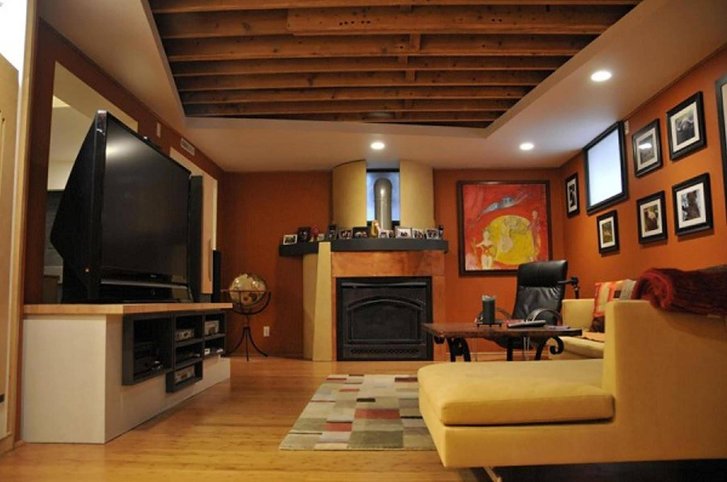 Elegant Semi Finished Basement Ideas Developed With Finished Basement .