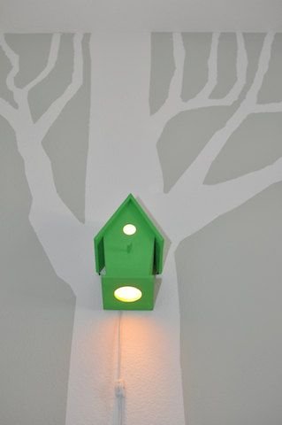 SALE Avery in Lemon Lime Modern Birdhouse by moderntreetopbaby, $60.00