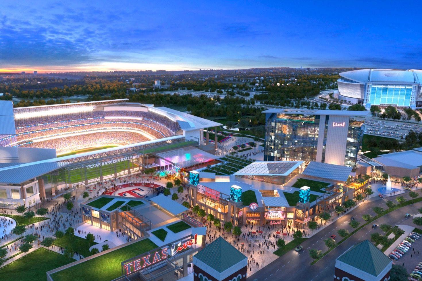 Arlington Breaks Ground On Texas Live Entertainment Complex Neighborhoods Com Entertainment District Dream City Dallas Hotels
