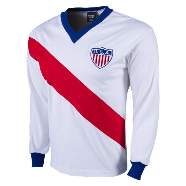 fd03db2fc USA Retro 1950 World Cup Jersey - Holiday gift ideas for the ultimate USA  Soccer fan at WorldSoccershop.com