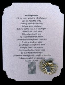 hands poem and pin set makes the perfect gift for a massage therapist