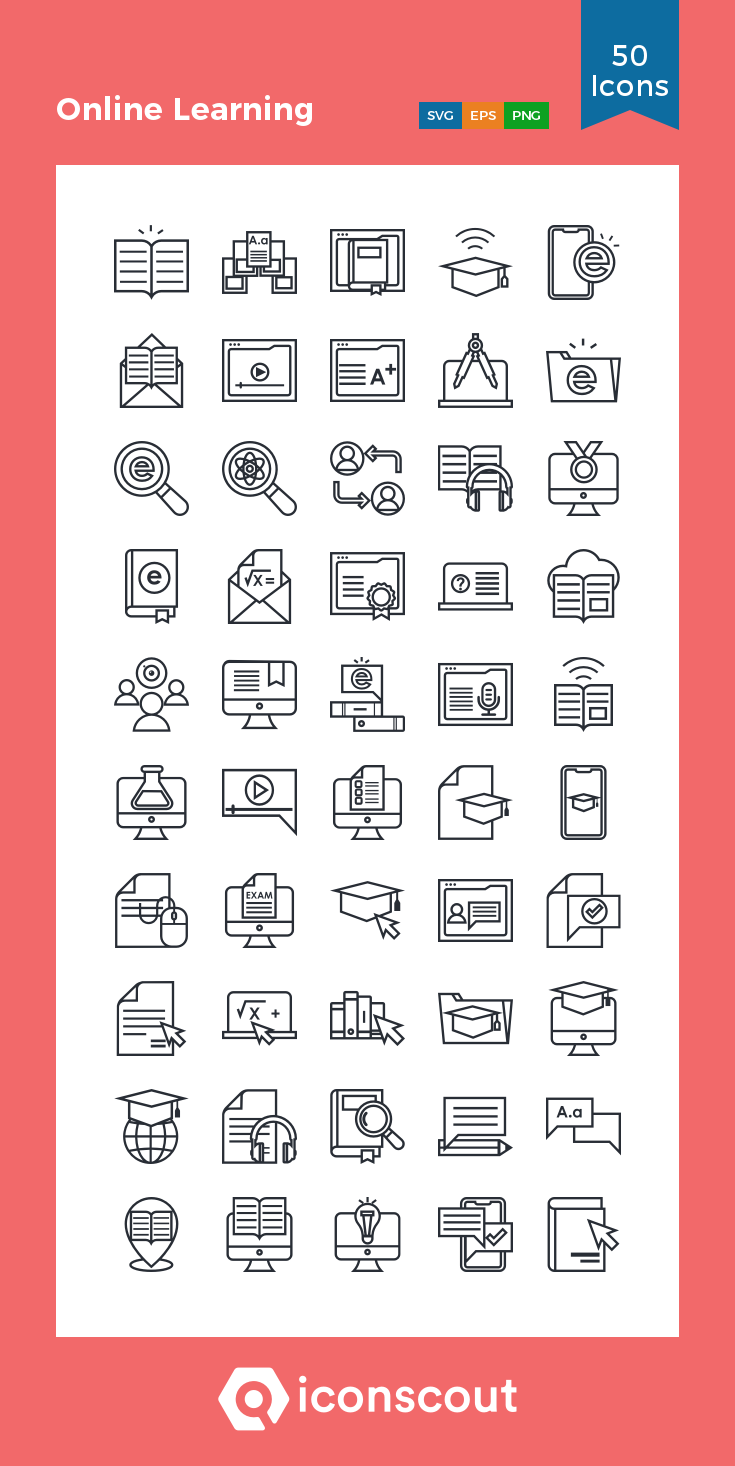 Download Online Learning Icon Pack Available In Svg Png Eps Ai Icon Fonts In 2021 Online Learning Icon Education Icon