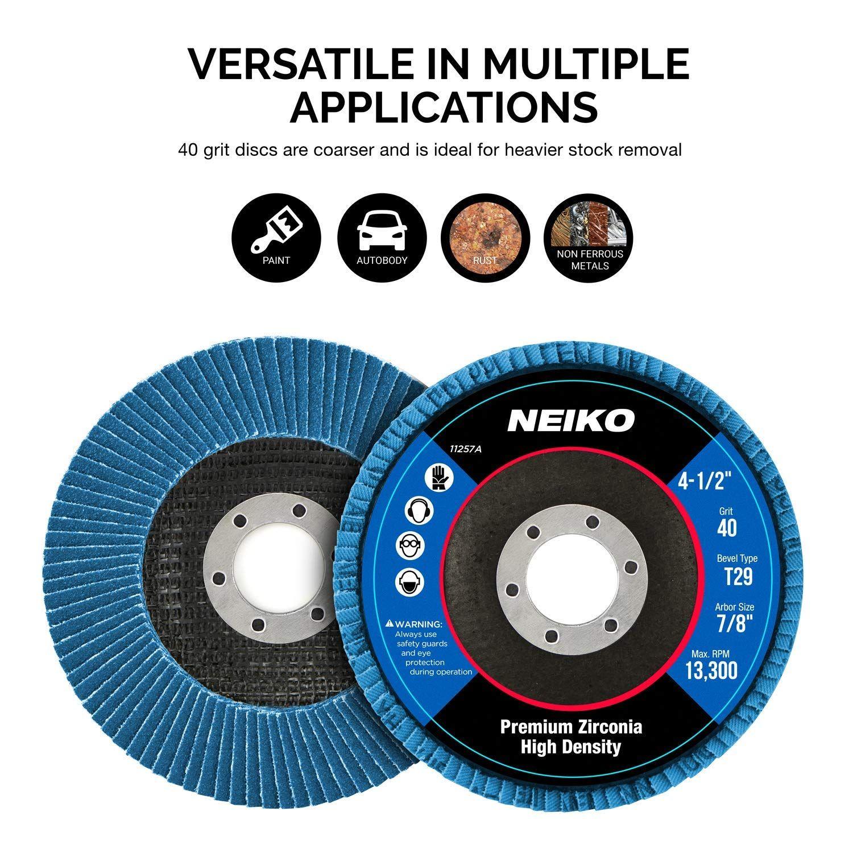 4.5 x 7 8 Premium High Density Jumbo Zirconia Type 29 Flap Disc 40 Grit 10 Pa