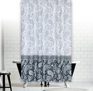 Quality Extra Long Polyester Fabric Bathroom Shower Curtain 180