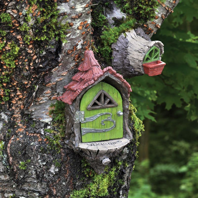 Fairy Landing Pads Set of 2 for Hanging on Tree Miniature Garden Gnome Hobbit House