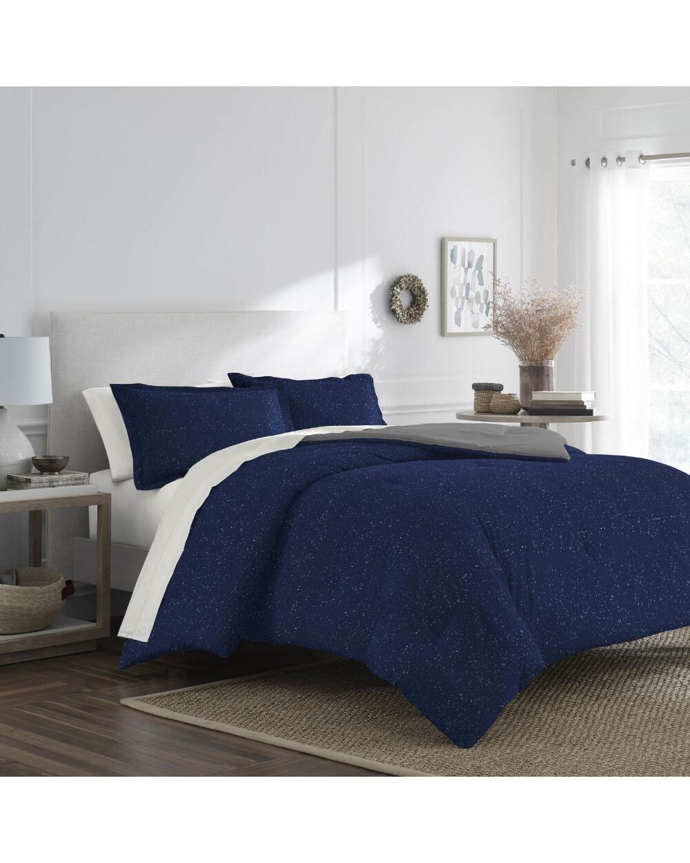 Martex 3 Piece Mason Marled Jersey Comforter Set King