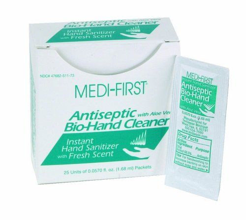 Medique 51173 Instant Hand Sanitizer With Aloe Vera 25 Packets