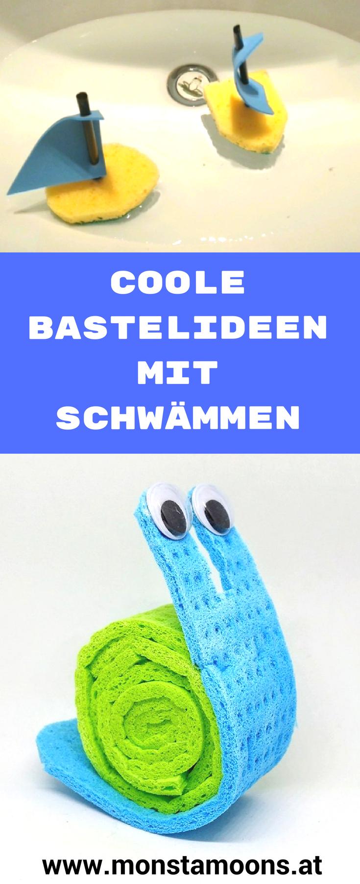 Coole Bastelideen Mit Schwammen Basteln Mit Kindern Schnell Und