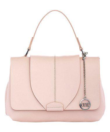 Pink Flap-Front Leather Satchel #zulily #zulilyfinds