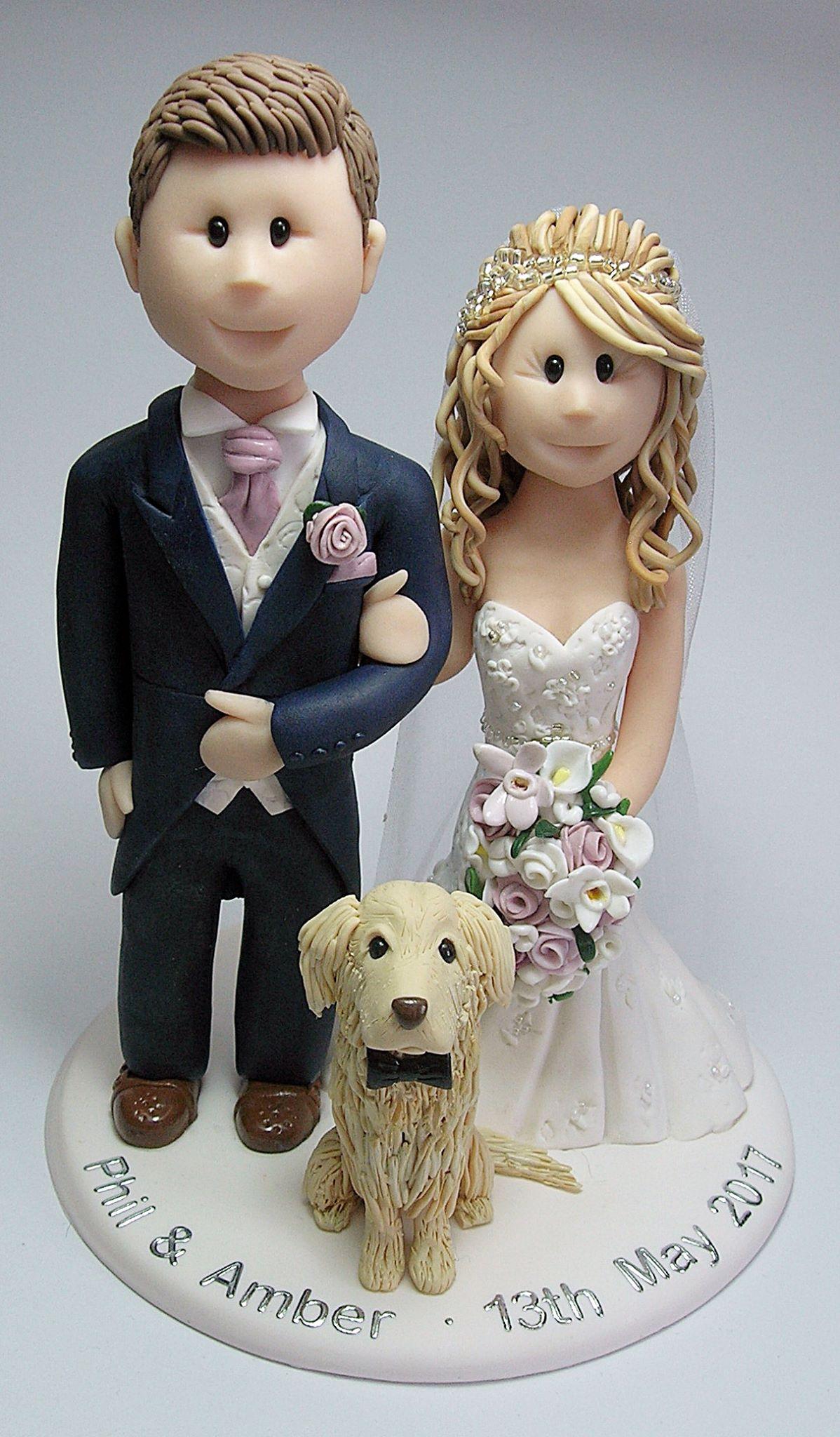 Golden Retriever Wedding Cake Topper Golden Retriever Cake Topper Cake Designs Birthday Fondant Dog