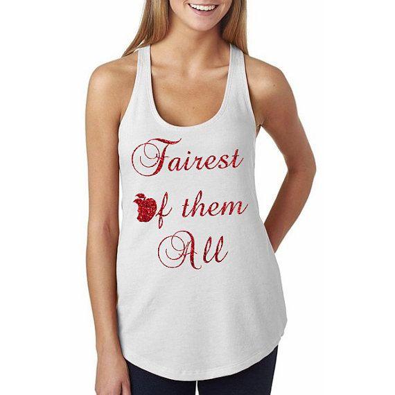 "Disney's Evil Queen, Snow White Shirt ""Fairest of them All"" // Disney Villains, Disney Characters, Disney Shirts, Disney Shirt, Disney"