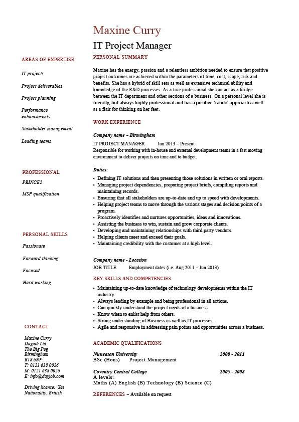 sample cv for prince2 certified - Saferbrowser Yahoo Image Search - it project manager resume sample