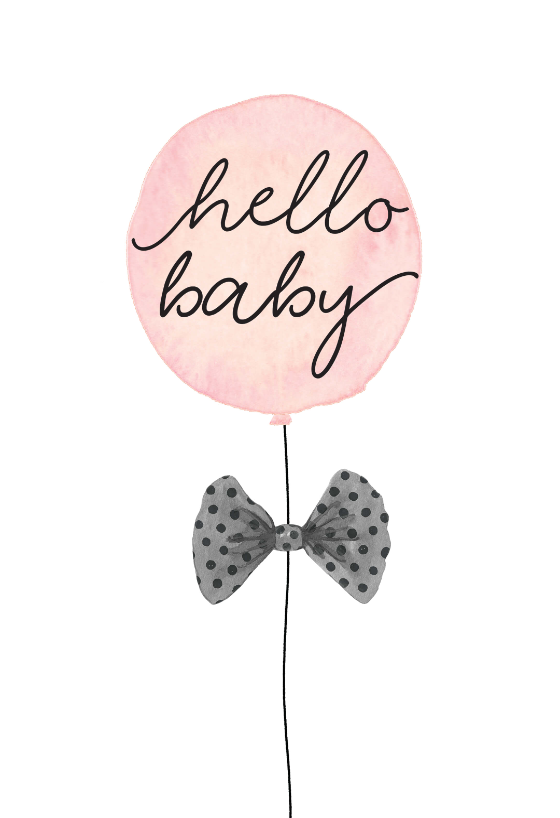Minimal Balloons Baby Shower New Baby Card Greetings Island Baby Congratulations Card Baby Cards Handmade New Baby Cards