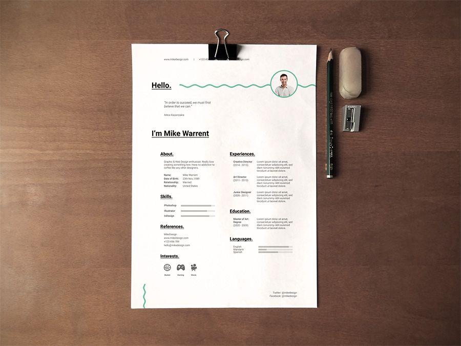 modern free resume templates pinterest