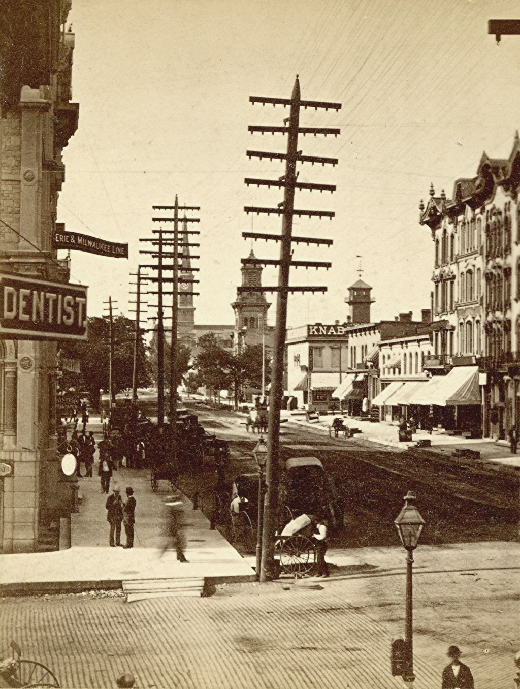 Yesterday S Milwaukee Broadway North Of Wisconsin 1879 With