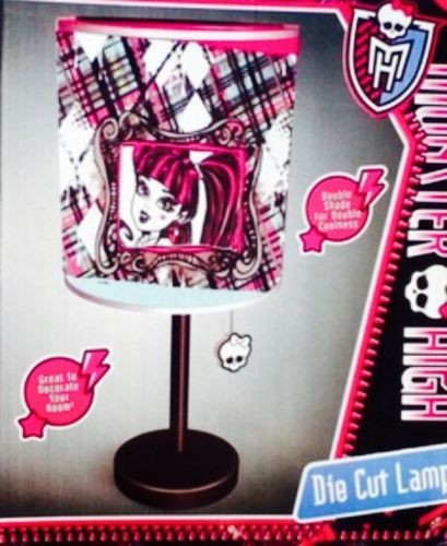 Monster High Die Cut Table Lamp NEW Room Decor