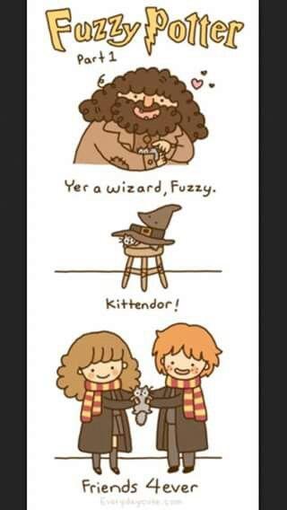 Kittendor Harry Potter Cartoon Cute Harry Potter Pusheen Harry Potter