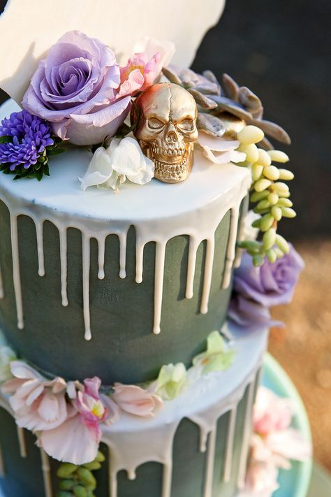 A Spring Style Soiree With A Beautiful Twist On Skull Decorations