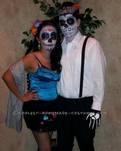 Great Dia de Los Muertos Couple Halloween Costume Couple halloween - romantic halloween ideas
