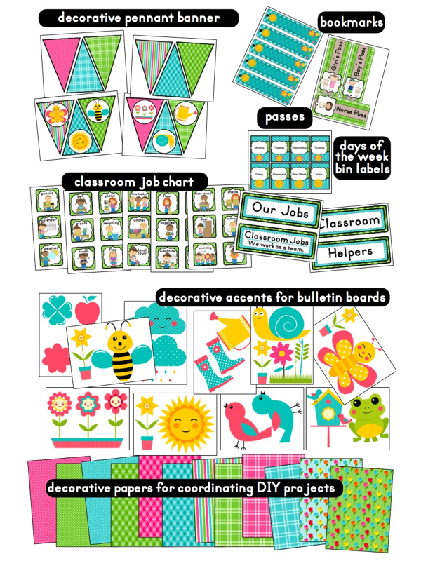 Classroom Decoration Printables For High School ~ Garden themed classrooms เรียนรู้ pinterest
