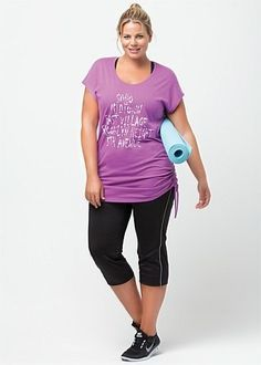 c9f9bd75 Camisetas Deportivas Mujer, Talla Grande Casual, Ropa Para Hacer Ejercicio,  Looks Deportivos,